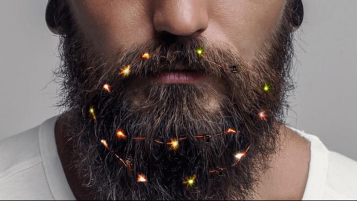Фото №1 - В Британии можно купить гирлянду для бороды