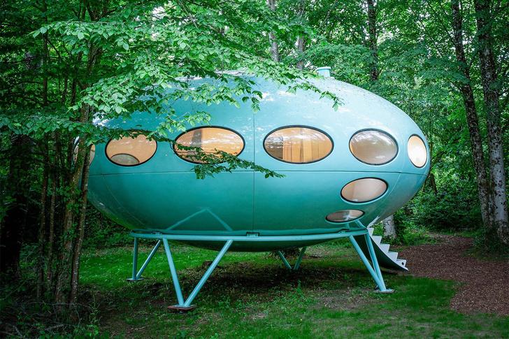 Фото №1 - Ретрофутуристичный дом в английском парке (кстати, сдается в аренду)