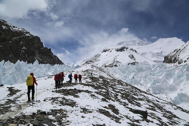 Фото №1 - Созданы уникальные панорамы восхождения на Эверест