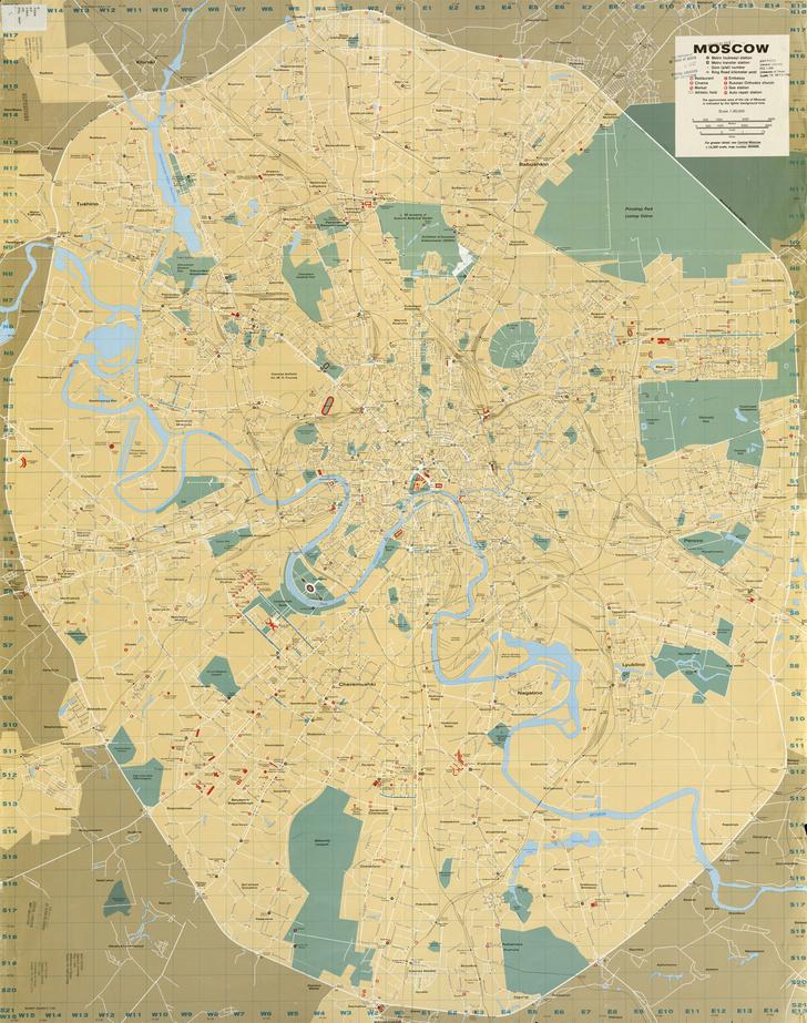 Фото №2 - Как выглядела карта Москвы 1986 года, составленная ЦРУ