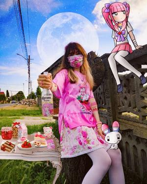 Фото №14 - Мило и жутко: почему японские подростки обожают «больной кавай»