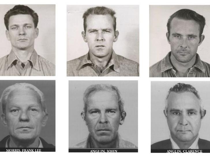 Тюремные фотографии Фрэнка Морриса и братья Энглин и изображения Министерства Юстиции США, как преступники должны были бы выглядеть в 2012 году