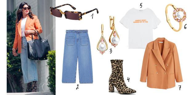 Фото №3 - Look дня: носим цветные пиджаки как Приянка Чопра