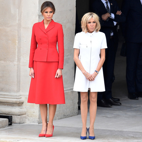 Фото №7 - Первые подруги: Мелания Трамп и Бриджит Макрон в Париже