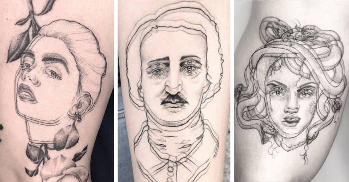 Фото №1 - Художница рисует «размытые» татуировки, от одного взгляда на которые начинает укачивать (галерея)