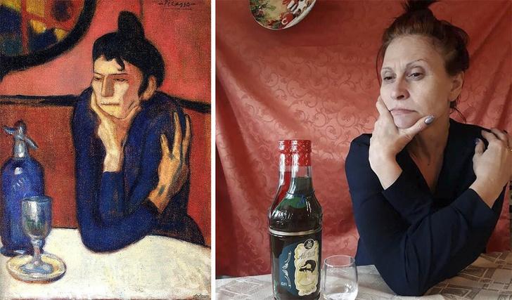 Фото №4 - #Изоизоляция: русскоязычные пользователи в карантине копируют знаменитые картины