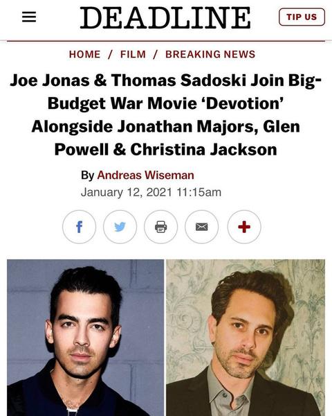 Фото №1 - Джо Джонас возвращается к актерской карьере!