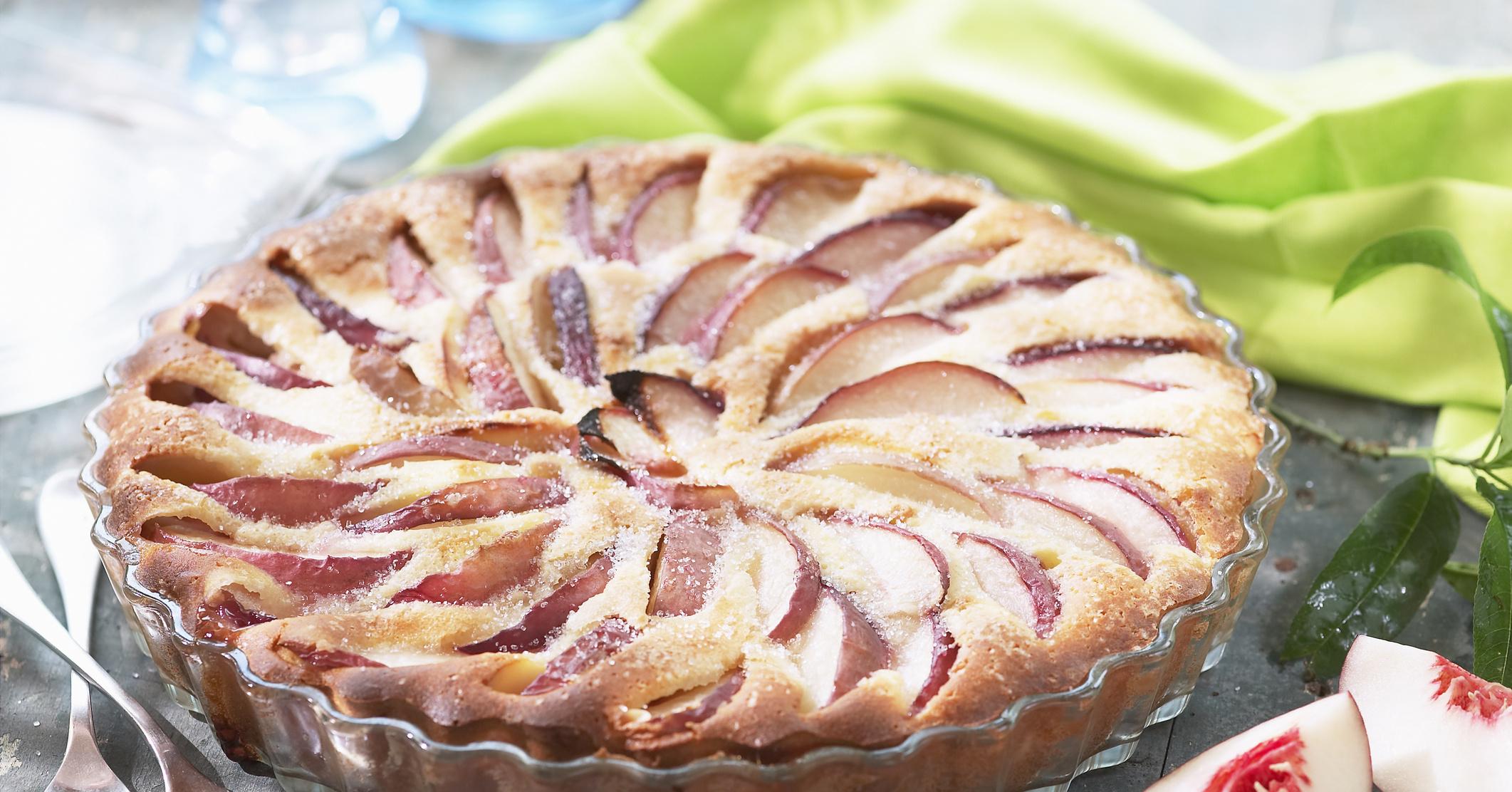 Пирог с персиками консервированными рецепт с фото