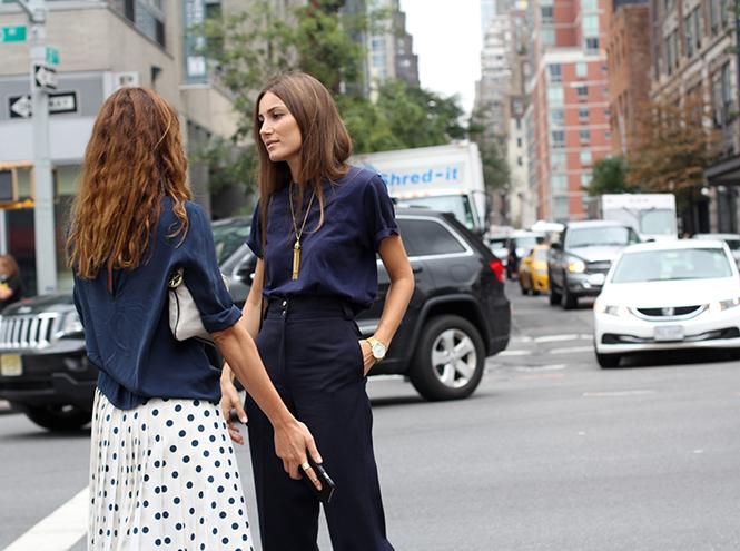 Фото №7 - Street style первого дня недели моды в Нью-Йорке