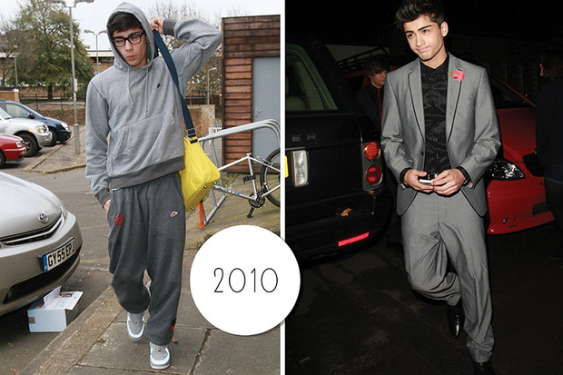 Эволюция стиля Зейна Малика: 2010 год