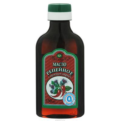 Репейное масло для волос с красным перцем, Mirolla