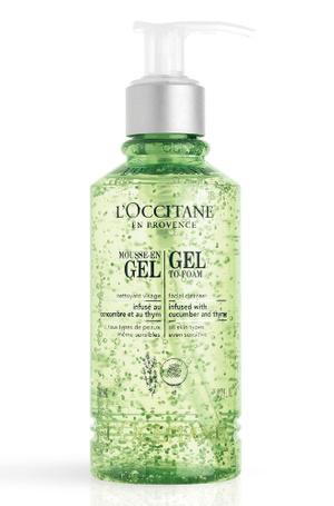 Очищающий гель-мусс для лица Gel-To-Foam Facial Cleanser с огуречным экстрактом от L'Occitane