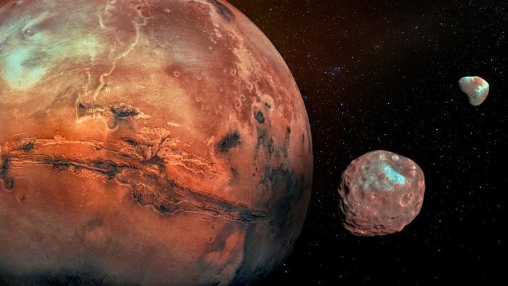 Фото №1 - Выдвинута новая версия о происхождении спутников Марса