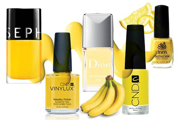 Фото №1 - Топ-10: Желтые лаки для ногтей
