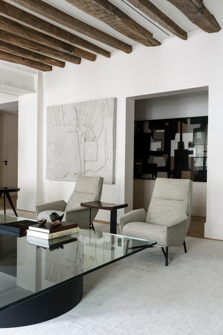 Фото №5 - Нетипичная парижская квартира в черно-белой гамме