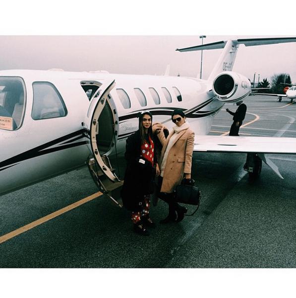 Фото №5 - Звездный Instagram: Знаменитости и самолеты