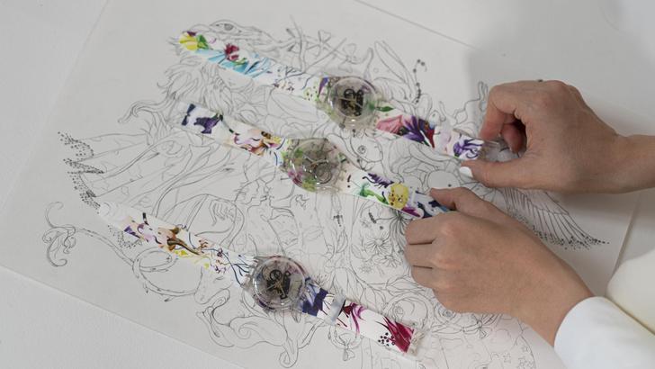 Фото №4 - Новое искусство: как выглядят часы Swatch из коллаборации с Эллен Шейдлин