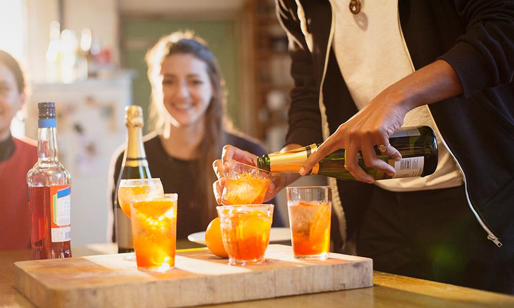 Шампанское с апельсиновым соком