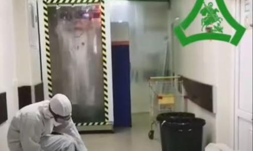 Фото №1 - В больнице святого Георгия показали свой тоннель дезинфекции для врачей