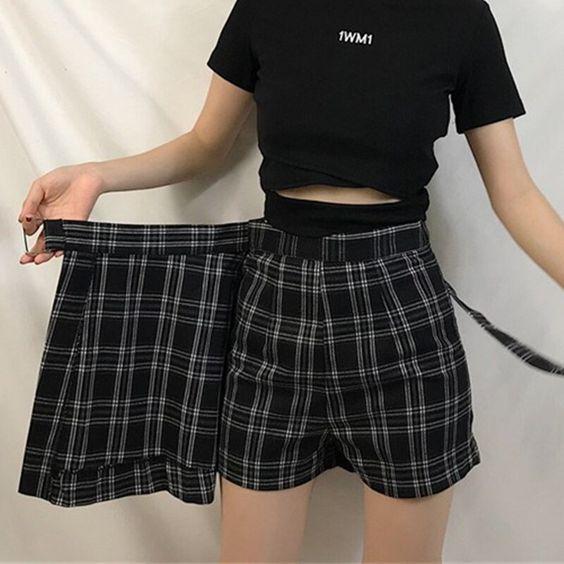 Фото №2 - Одежда как в дорамах: с чем носить юбку-шорты весной 2021