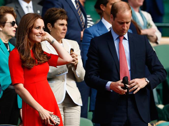 Фото №2 - Герцогиня Кэтрин и принц Уилльям на Уимблдоне