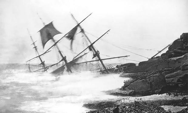Крушение судна «Миннехаха», 1874