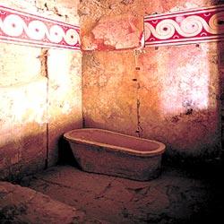 Первая из дошедших до нас ванн, датированная II тысячелетием до н. э., была обнаружена при раскопках Кносского дворца на греческом острове Крит. Наибольший же интерес у археологов вызвали так называемые «комнаты царицы» — жилые покои, где в одной из небольших комнат стояла расписная глиняная ванна вполне современной формы.