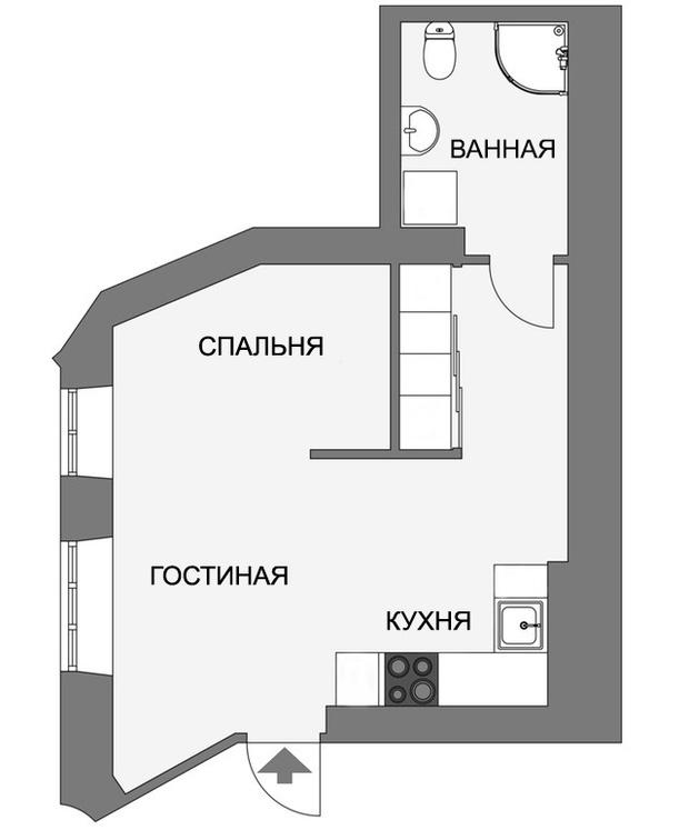 Фото №17 - Уютная, светлая студия 31 м² в Гетеборге