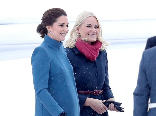 Фото №1 - Кейт Миддлтон и принц Уильям в Норвегии: день первый