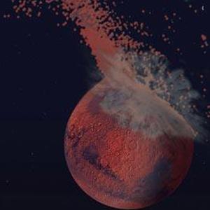 Фото №1 - На Марсе обнаружен гигантский кратер