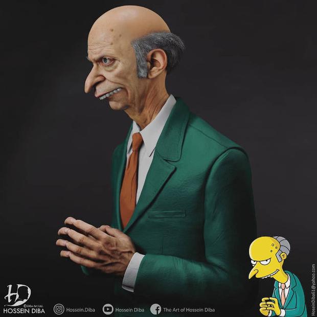 Фото №5 - Художник показал, как выглядели бы Симпсоны в реальной жизни