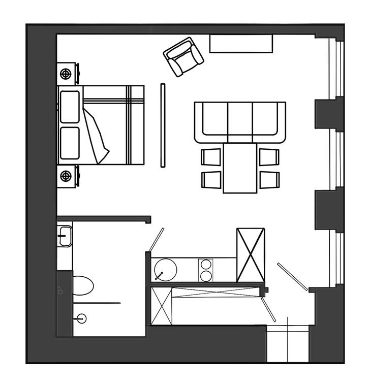 Фото №10 - Квартира 43 м² для сдачи в аренду в доме 1909 года