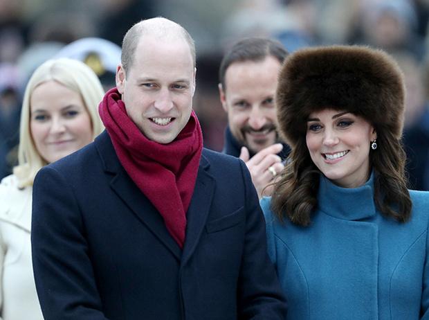 Фото №11 - Кейт Миддлтон и принц Уильям в Норвегии: день первый