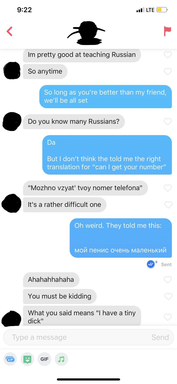 Фото №2 - Переписка в «Тиндере» с неправильным русским переводом от друзей стала вирусной