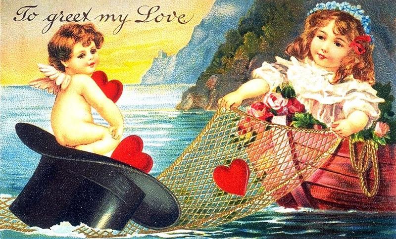 Старые открытки с днем валентина, аватарку девушки метла