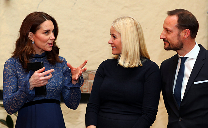 Фото №19 - Кейт Миддлтон и принц Уильям в Норвегии: день первый