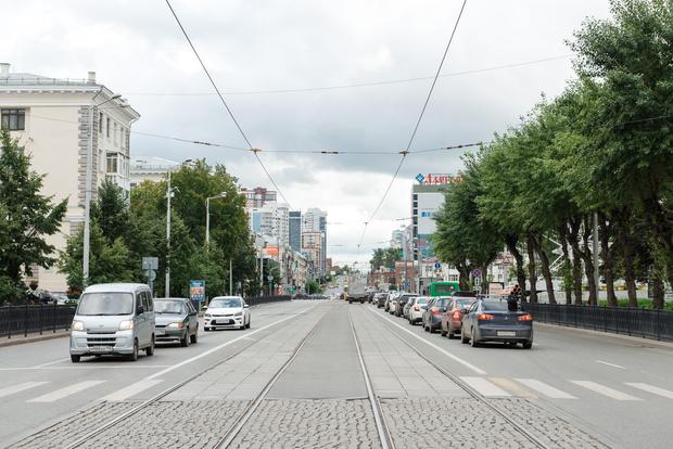 Улица Московская также бывает загружена в дневные часы.