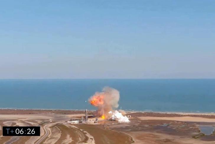 Фото №1 - Прототип Starship взорвался после успешной посадки