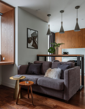 Фото №11 - Как уместить в однушке спальню, кабинет и гостиную: фото