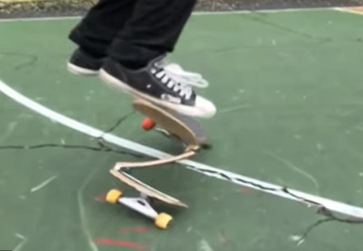 Фото №1 - Скейтбордист Мэтт Томазелло создает новые снаряды и выполняет на них такие трюки, что сложно поверить, будто это не компьютерная графика