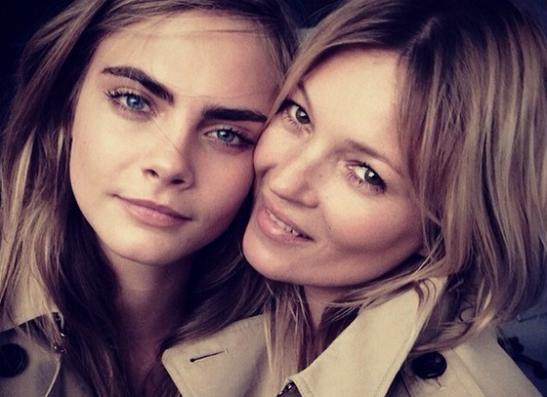 Фото №1 - Кара Делевинь и Кейт Мосс стали лицами нового аромата Burberry