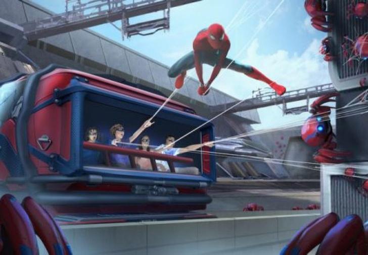 Фото №1 - Disney показал робота в костюме Человека-паука, который будет выполнять воздушные трюки в новом аттракционе (видео)