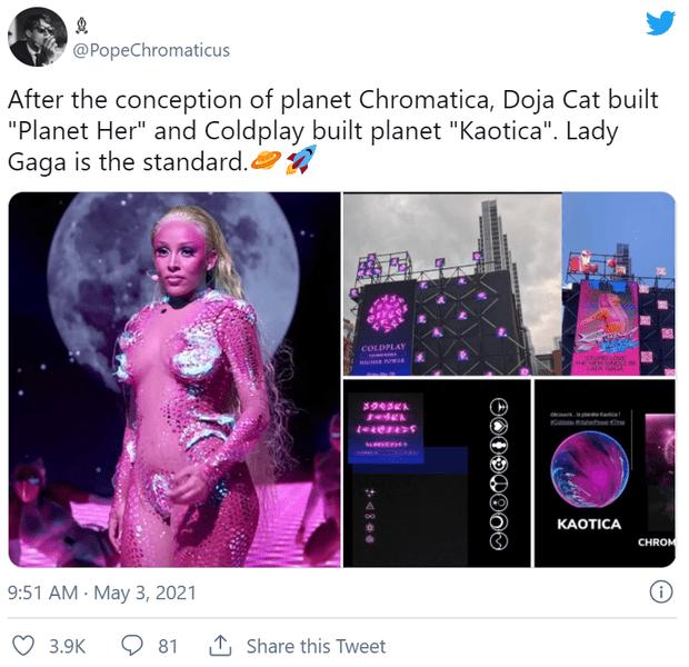 Фото №7 - Почти плагиат: фанаты Леди Гаги ополчились против поклонников Coldplay