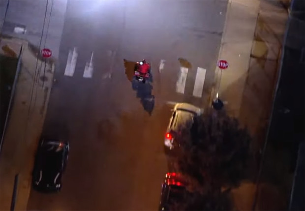 Фото №1 - Как выглядит с вертолета настоящая полицейская погоня в духе голливудских боевиков (видео)
