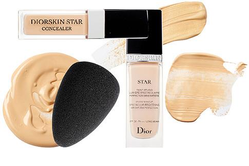 Тональный крем и консилер Diorskin Star, а также бьюти-блендер Backstage Blender, Dior
