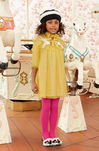 Фото №25 - Золотая карусель: лукбук осенне-зимней детской коллекции Gucci 2016/17