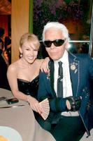 Миноуг с Карлом Лагерфельдом. Нью-Йорк, май 2007 года.