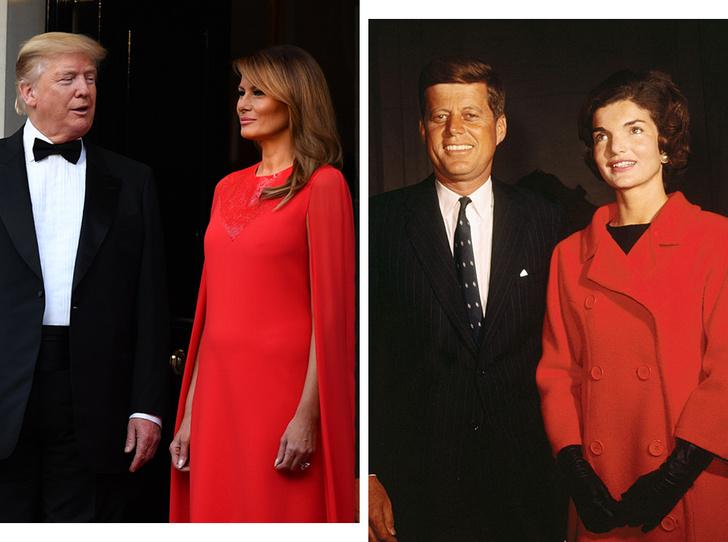 Фото №1 - Дональд Трамп сравнил свою супругу Меланию с Жаклин Кеннеди