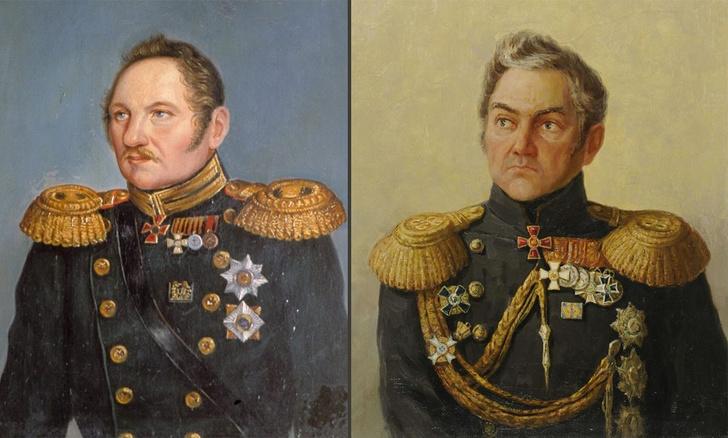 Фаддей Беллинсгаузен и Михаил Лазарев.