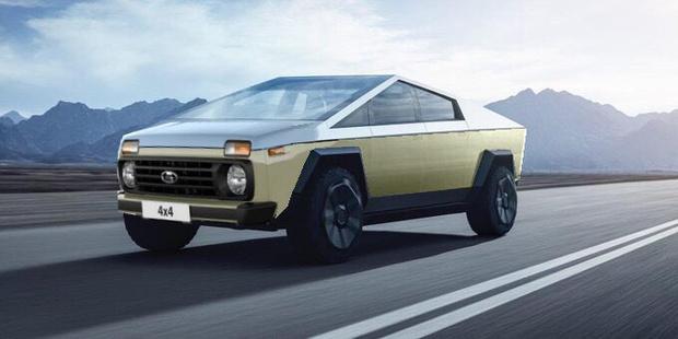 Свой вариант рестайлинга Tesla предложили и дизайнеры Волжского Автомобильного Завода. Согласись, мордаха от «Нивы» здесь очень к месту…
